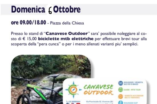 "Tour guidati in e-bike alla ""Sagra del fungo di Cossano""  06/10/19"